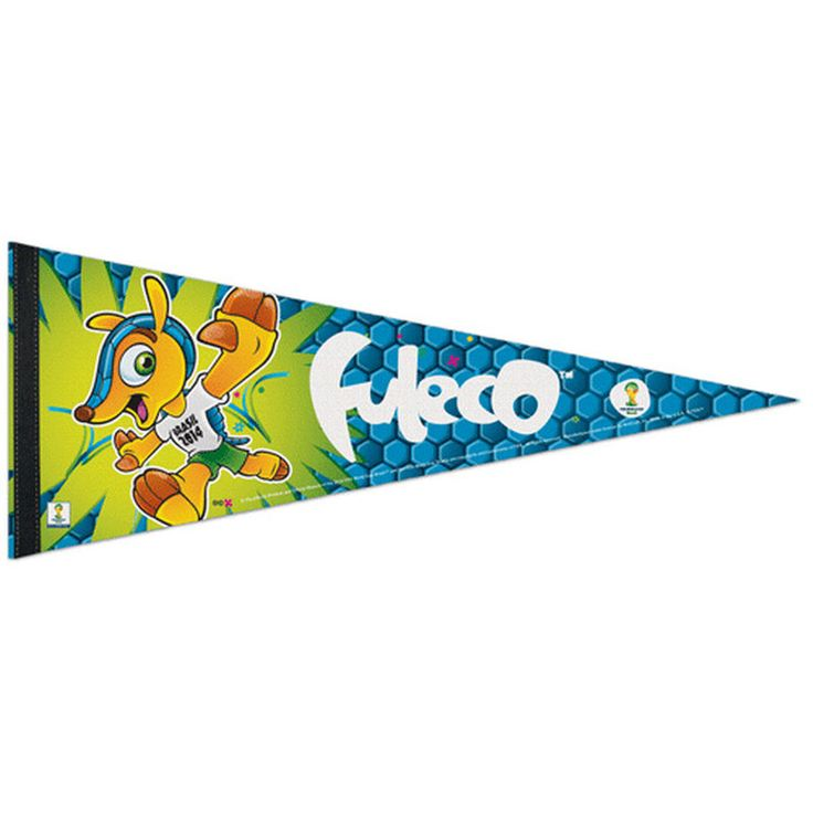 "FIFA 2014 World Cup 12"" x 30"" Fuleco Pennant"