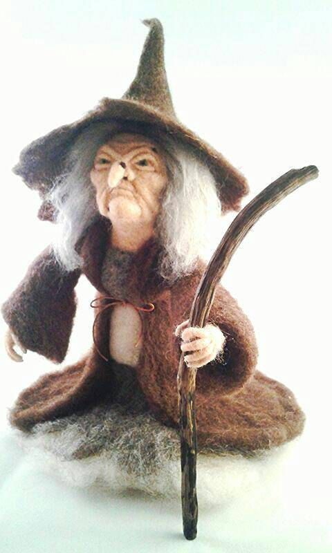 Pendle Witch. Needle Felted Witch, Wicca Fiber Art Doll. Witchcraft, Forest…