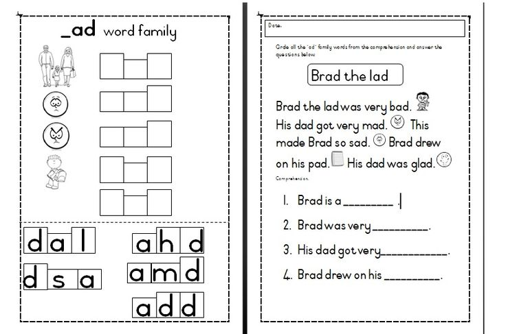 ***FREE*** downloadable worksheets ad word family activities