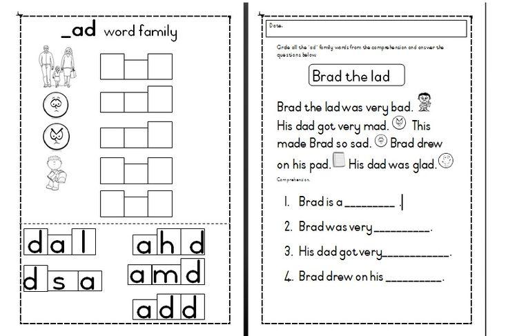 55 besten word families Bilder auf Pinterest | Betten, Kindergarten ...