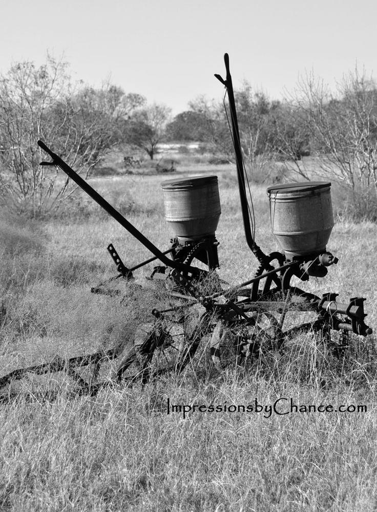 vintage tractor mounted fertilzer side dresser. Old Farm Equipment
