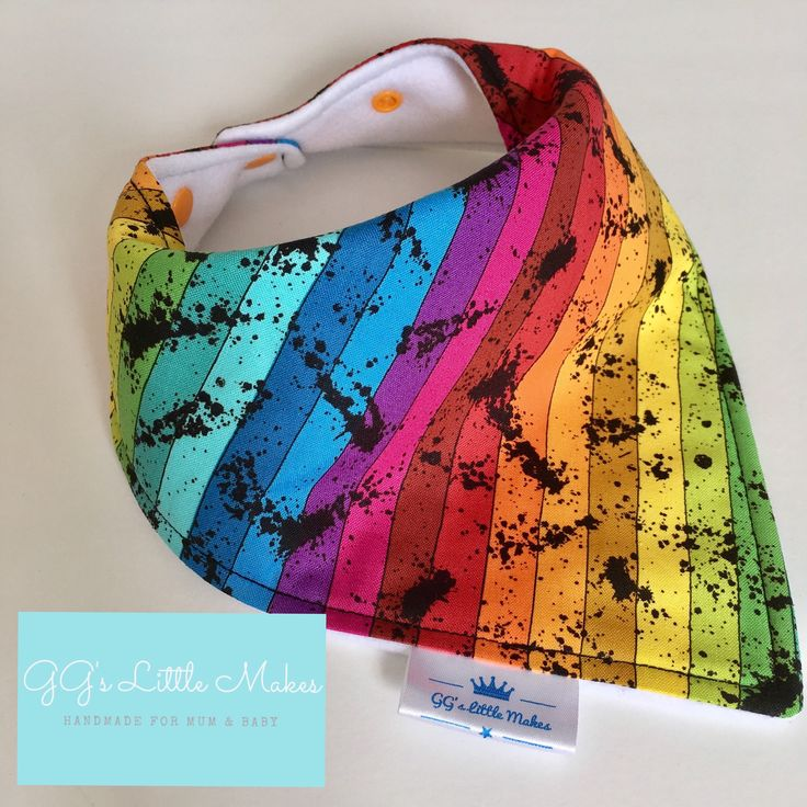 Rainbow dribble bib Rainbow bib rainbow baby gift Baby girl