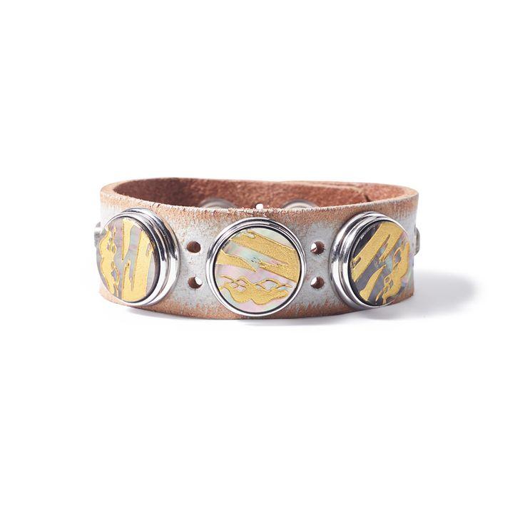 *NEW* Noosa Amsterdam Original Wabi Sabi Serenity Bracelet - Light Grey