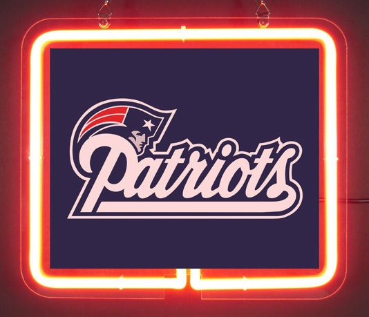 England Patriots Brand Neon Light Sign @3