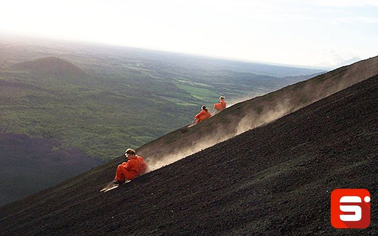 Have you heard about Volcano surfing?  Yes, you heard it right, people are crazy enough to surf on a volcano. Volcano surfing, also known as ash boarding or volcano boarding, involves riders to hike up the volcano and slide down, sitting or standing, on a thin plywood or metal board. The most popular slope is of Cerro Negro near Leon in Central American nation of Nicaragua.  #Sportido #newsport #playwithfriends #volcanosurfing