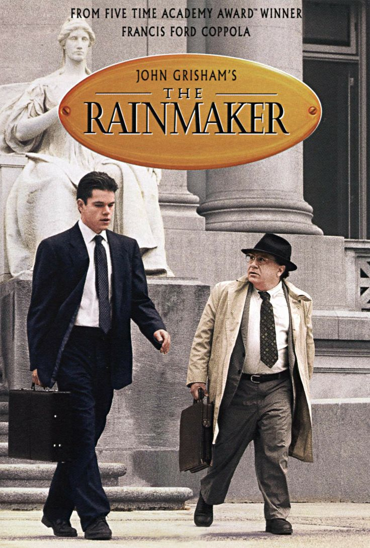 The Rainmaker (iTunes rental) with Matt Damon, Danny DeVito & all-star cast, directed by Coppola. *** Often improbable but very entertaining from Grisham novel. Excellent Jon Voigt as high powered lawyer and especially a superb Mary Kay Place. *** 1/2
