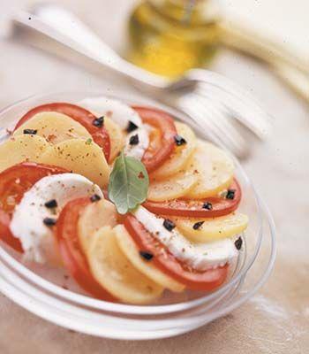 Salada meli-melo de batata. Veja a receita em: http://www.batatasdefranca.com/receitas/saladas.html#!prettyPhoto[salada_meli_melo]/0/ #Batata #Receita #Comida #Saladas #melimelo #Batatas #Cozinhar #batatascomsabor