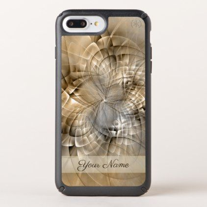 Earth Tones Abstract Modern Fractal Art Name Speck iPhone Case - monogram gifts unique design style monogrammed diy cyo customize