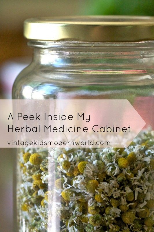 Living Naturally: A Peek Inside My Herbal Medicine Cabinet || Vintage Kids | Modern World