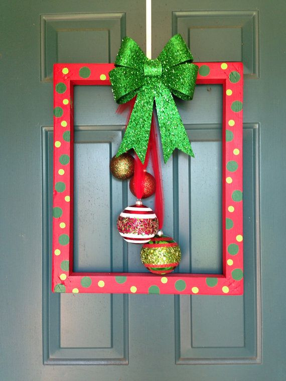 Superb Christmas Picture Frame Craft Ideas Part - 14: Christmas Frame Door Hanger By AnnaGsCC On Etsy