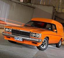 Classic orange Sandman van