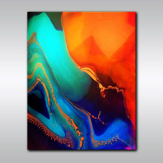 8 x 10 Multicoloured Abstract Print -  Colourful Art Print - Abstract Wall Decor -  Modern Artwork - Contemporary Abstract Art -  Abstract