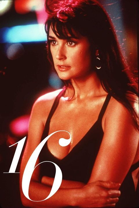 18 iconic beauty icons of the '90s including matte skin, brick-red lips, unstyled hair: Demi Moore.
