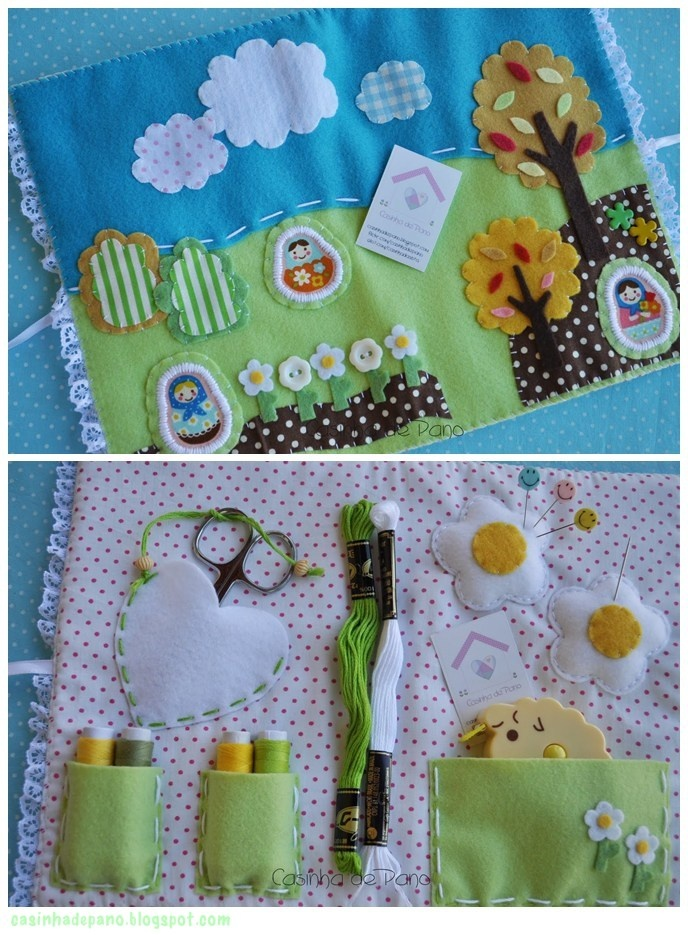 Lovely sewing kits by Kathia casinhadepanoblogspot