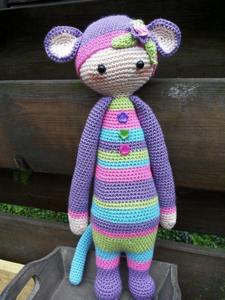 KIRA the kangaroo • lalylala crochet pattern / amigurumi | Crochet ... | 960x720