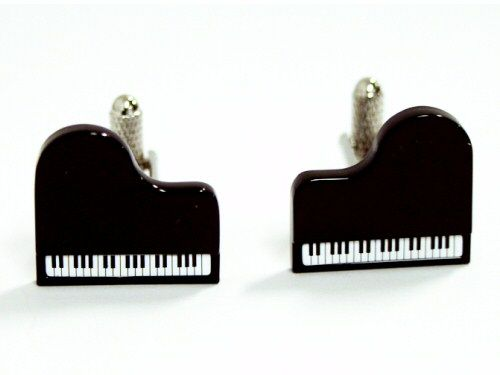 Piano Cufflinks - Black