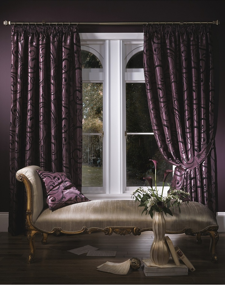 Deep Purple Curtain Luxury