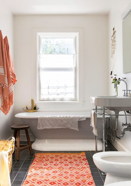 17 Best Images About Pretty Bathrooms On Pinterest | Sconces, Round Mirrors  And Wood Vanity