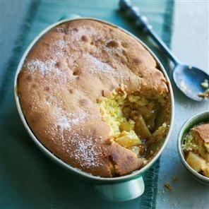 Almond, apple and pear sponge Recipe   delicious. Magazine free recipes