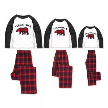 a2e003cec3 Adorable Grandparents and Grandchild Plaid Holiday Bear Pajamas ...