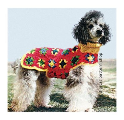 Crochet Dog Sweater Pattern Granny Dog Pinterest Dog Sweater