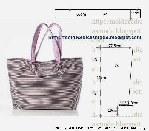 835db45c8 Moldes para hacer bolsos de mano para dama Ideas de Manualidades ...