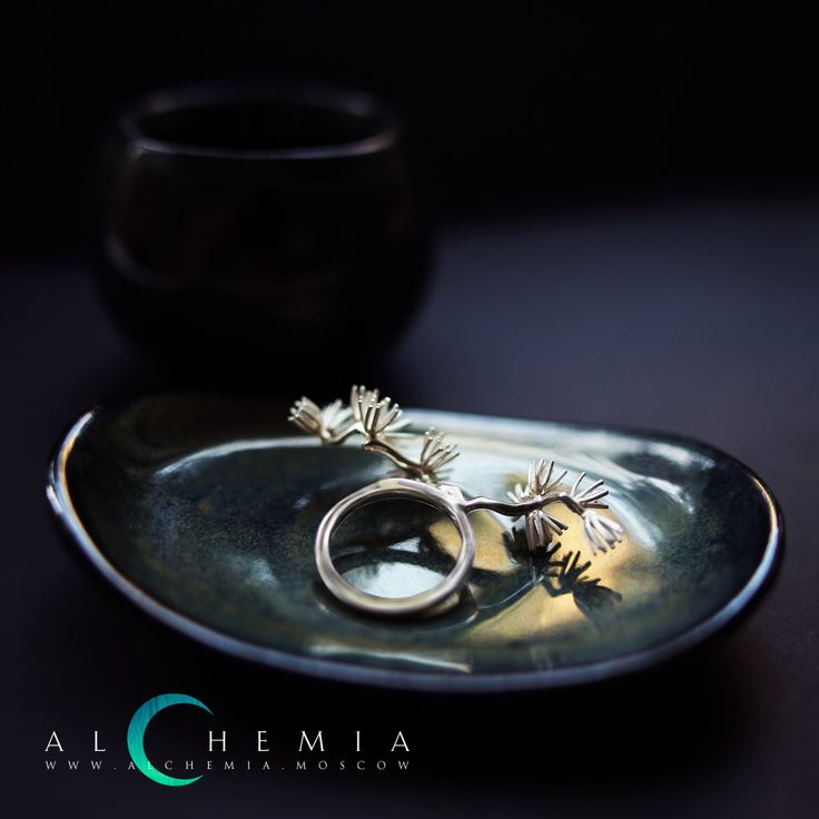 The Pine ring. Gold 858 or silver 925. Handmade by Alchemia Jewellery.
