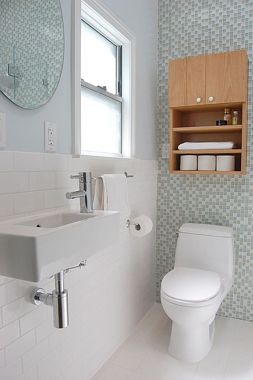 Lovely Little Loos: Small Bathrooms With Big Style    Small Sink Idea For  The Guest Bath