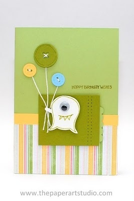 Stampin Up!   Owl Punch Art  Monster