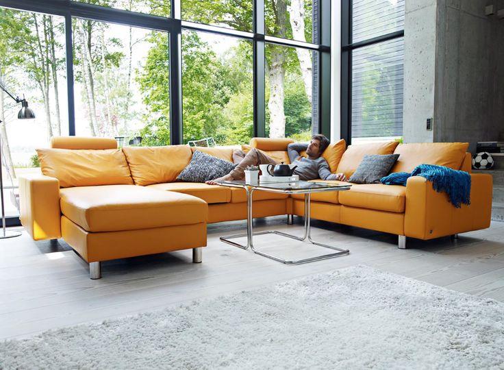 #Ekornes #Stressless #moden #Sectional #Sofa #ottoman #couch
