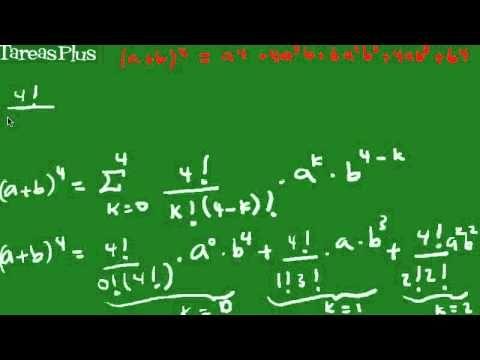 Fórmula binomio de newton
