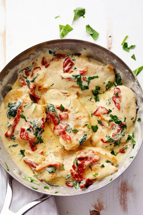 Creamy Tuscan Garlic Chicken.