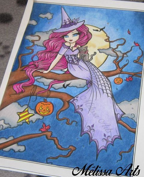 Un coloriage du livre Enchanted Halloween du Hannah Lynn .Victoria . Video disponible ici : https://www.youtube.com/watch?v=xipjsI83ljo  #hannahlynn #coloriage #coloriageadulte #adultcoloring enchantedhalloween #hannahlynn #hannahlynnart #colouring #adultcoloring #coloringbookforadult #whimsy #whimsycal #prismacolor #prismacolorpencils #pencil #art #colourist #coloriste