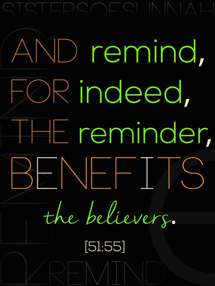 Keep reminding In sha Allah!