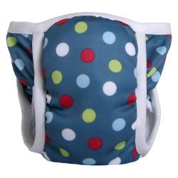 We love the @bummis Potty Pant in Denim Dot.  Helps make toilet training easier. Find them and more at www.boomersandechoes.com