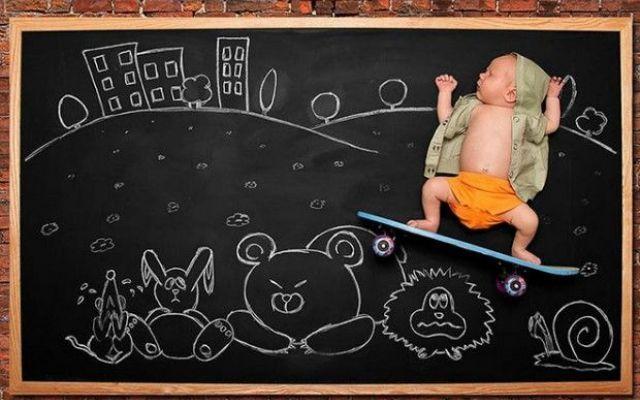 L'idea geniale di una mamma per festeggiare la nascita del suo bambino! #mamma #bambino #foto #divertente