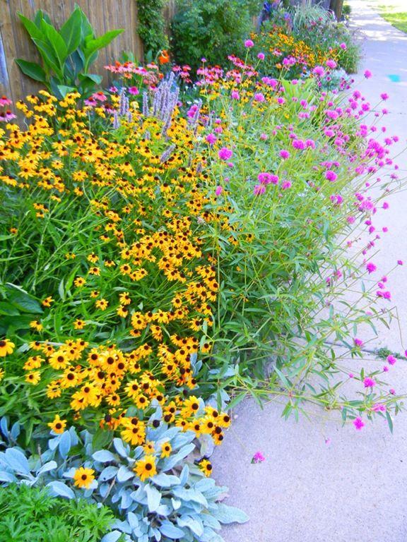 1000 ideas about flower bed borders on pinterest flower for Full sun perennial garden designs