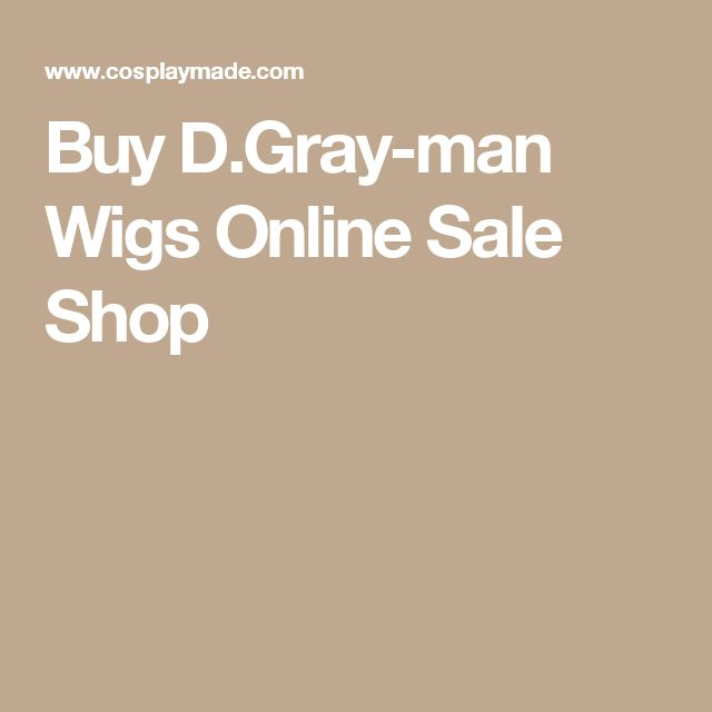Buy D.Gray-man Wigs Online Sale Shop