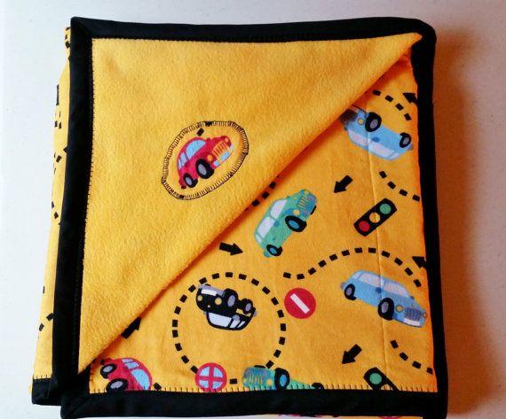 Handmade Cars Baby Blanket Toddler Blanket Car by PearlsHomespun