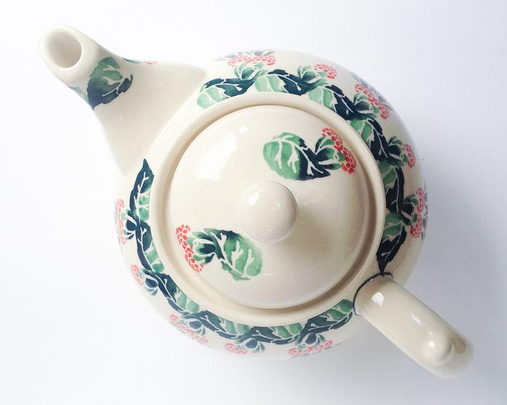 Pottery Corner - Teapot 1.25l #polishpottery #bunzlau #Boleslawiec #pottery #handmade #potterycorner