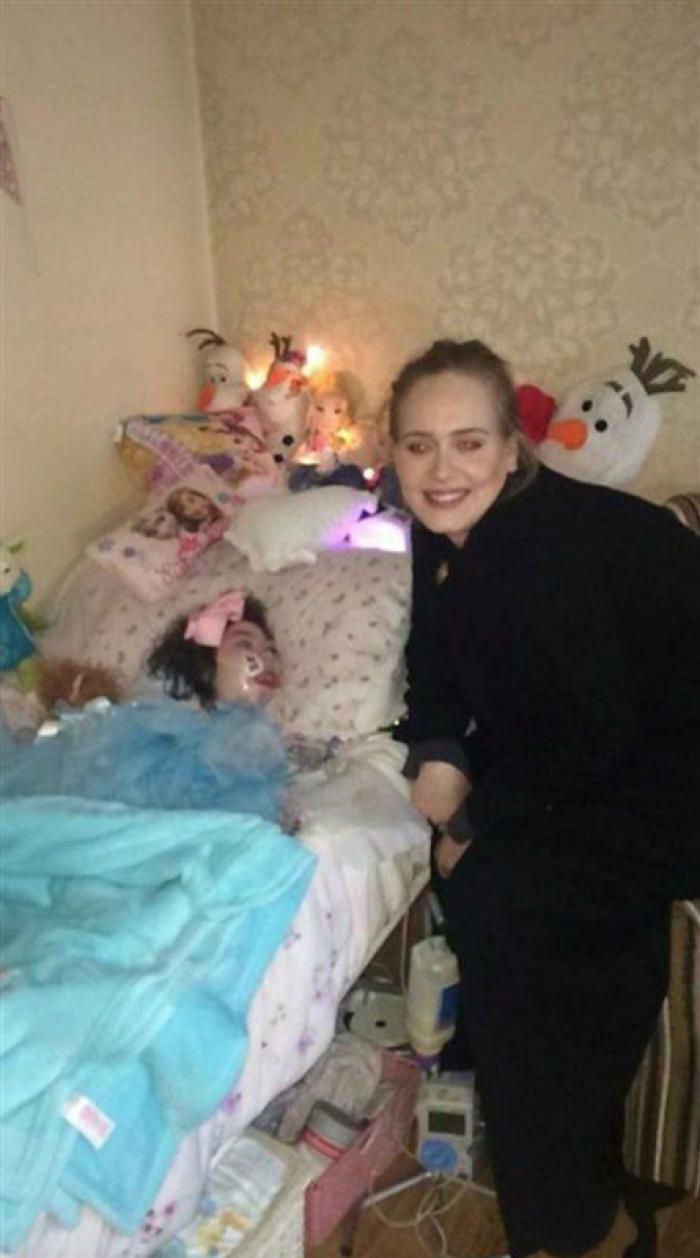 Adele doesn't just have a great voice, but she is a great person too. While on tour she took time to visit a terminally ill fan in North Ireland.