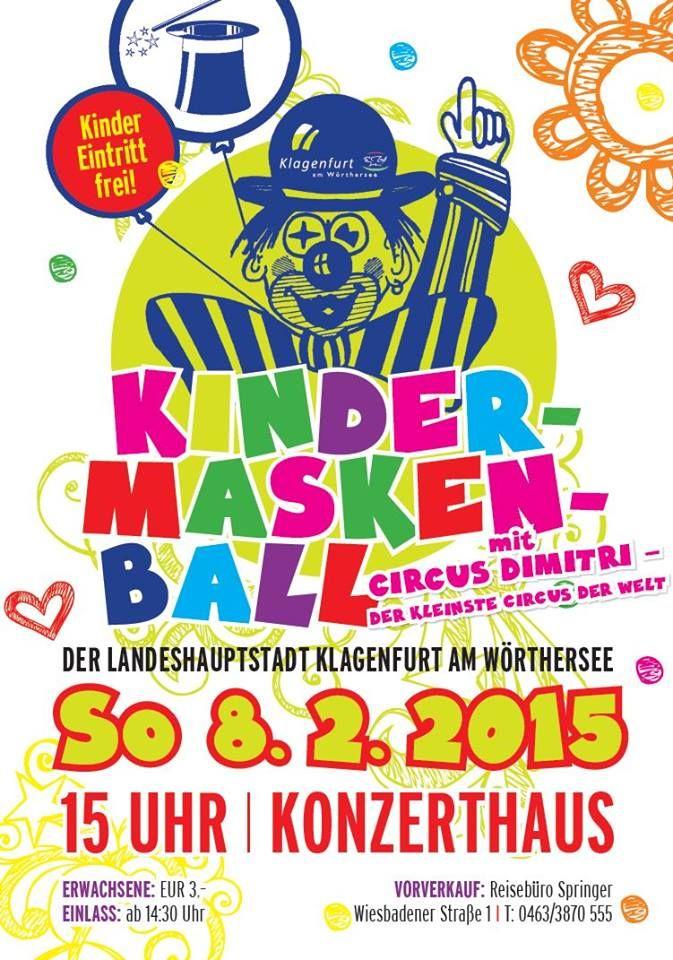 Kindermaskenball im Konzerthaus.