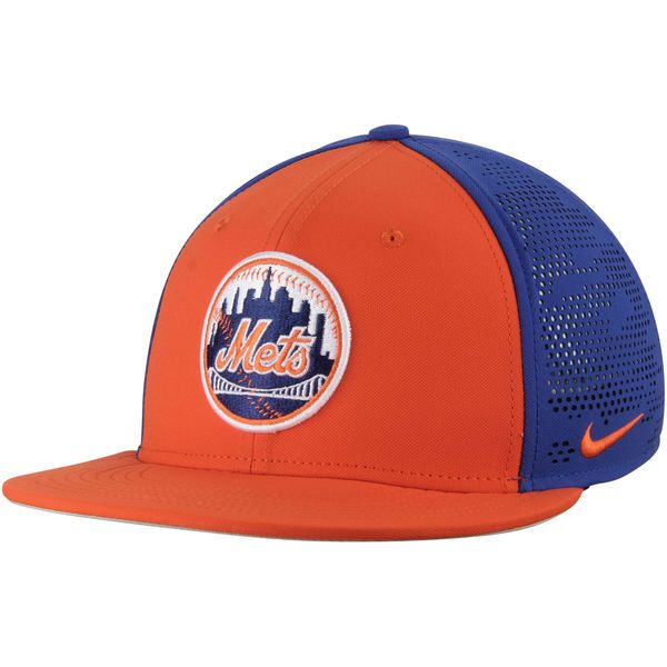 bf6a5ca8a75   Men s New York Mets Nike Orange Royal True Vapor Swoosh Performance Flex  Hat