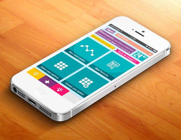 Mobile App Flat UI