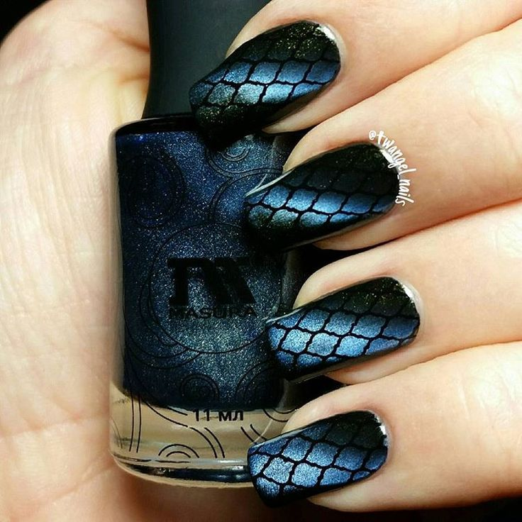 Can't get enough of @masura.ru's magnetic nail polish! 😍☺ This is Indian Night, stamped with Konad Black and @uberchicbeauty plate 4-03 💙 #masura #uberchicbeauty #uberchic #nailswag #nailpolish #nailpolishaddicted #nailgasm #nailsoftheday #notd #nailstagram #instanails #nailaddicts #nailpolishaddict #nailsofig #nailpolishaholic #nailsdone #naildesign #nails #nailartohlala #nailsofinstagram #nailpolishjunkie #naillacquer #nailpolishobsessed #nailporn #nailvarnish #npa #nailart #nailstamping