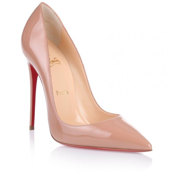 Christian Louboutin So Kate 120 nude patent pump ($675) ❤ liked on Polyvore featuring shoes, pumps, heels, christian louboutin, sapatos, beige, nude patent pumps, christian louboutin pumps, heels stilettos and nude high heel shoes