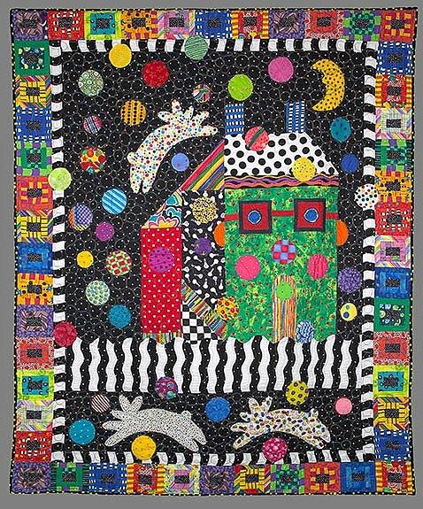 House quilt by Freddy Moran. Santa Barbara quilting retreat! Februrary 19-23 2012