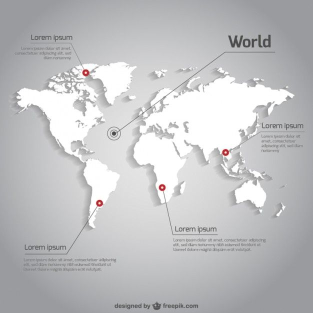 World map vector infographic template Free Vector