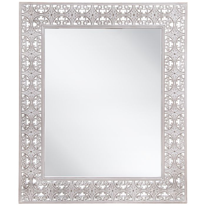 Distressed White Ornate Wall Mirror Mirror Wall Gold Mirror Wall Wall Mirror Decor Living Room