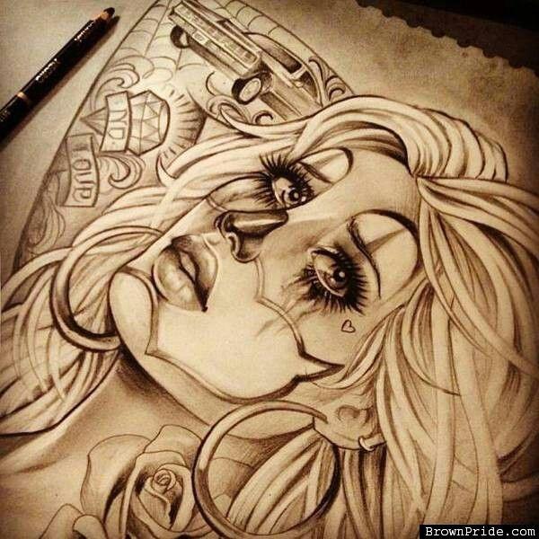 521 best art images on pinterest chicano art lowrider - Brown pride drawings ...